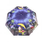 Зонт подростково-женский полуавтоматический Diniya 2271 (Фиолетовый)