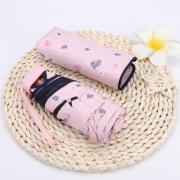 Зонт Женский мини -зонтик, 6 спиц (Япония) розовый