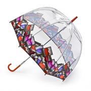 Зонт-трость механический женский Fulton L719 Lulu Guinness LipsPolaroidBorder Губы