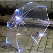 Зонт с подсветкой (прозрачный)