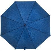 Синий зонт с проявляющимся рисунком