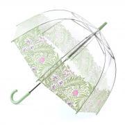 Прозрачный зонт с мятным рисунком Fulton 2980-LM Summer