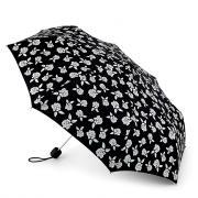 Зонт складной женский механический Fulton L779-3168 черный/белый