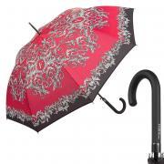 Зонт-трость женский полуавтоматический FERRE MILANO 300-LA белый/красный/черный