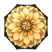 Зонт складной женский автоматический Pasotti Mini Georgin Giallo желтый