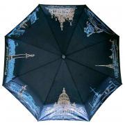 Складной зонт хамелеон «Ночь над Петербургом» (при намокании меняется цвет, купол 90 см, полуавтомат)