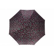 Зонт механический Isotoner Mini Slim Pois ray?s, ультра тонкий 5 сложений, Полосатый горох