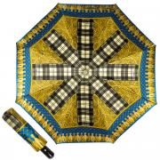 Зонт складной женский автоматический FERRE MILANO 357-OC желтый/голубой