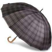 Зонт-трость Bugatti механический DOORMAN CHEK GREY 71762001BU