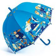Морской мир 68 см зонт-трость детский розовый для детей от 3 лет DJECO DD04703
