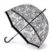 Прозрачный зонт трость с рисунком Fulton L042-3546 Voile