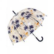 Зонт Mihi Mihi 7414 трость Тропический Фламинго прозрачный купол