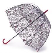 Зонт-трость женский механический Fulton L719-3902 прозрачный