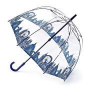 Зонт-трость женский механический Fulton L042-3042 синий