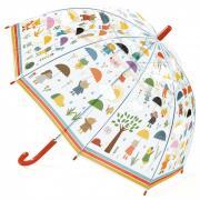 Под дождём 68 см зонт-трость детский прозрачный для детей от 3 лет DJECO DD04809