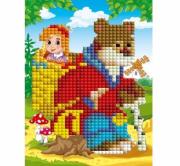 Мозаика алмазная Рыжий кот блестящая 10х15см МАШЕНЬКА И МЕДВЕДЬ ASE012