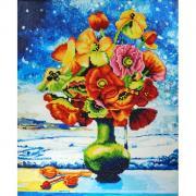 Color Kit Алмазная картина-раскраска Снежные маки
