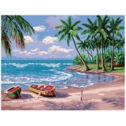 Алмазная мозаика Цветной ''Лазурный берег'' (30х40) на подрамнике le076