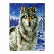 Набор Рыжий кот Мозаика алмазная - Ночной волк 40х50 см ACI002