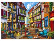 Алмазная мозаика Рыжий кот Милая улочка ASD5004 (325925)