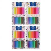 Пластилин мягкий (восковой) 24 цвета 400 г Multicolor, в блистере