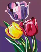 Роспись по холсту Артвентура Тюльпаны MINI16130030