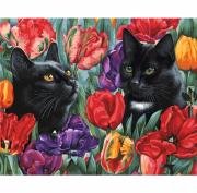 Раскраска Белоснежка Среди тюльпанов 191-AB