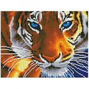 Алмазная мозаика Цветной ''Голубоглазый тигр'' (30х40) на подрамнике le069