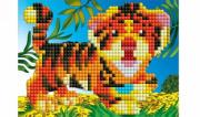 Мозаика алмазная Рыжий кот блестящая 10х15см ЯРКИЙ ТИГРЕНОК ASE013