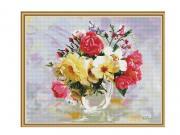 Набор для творчества SilverToys Алмазная мозаика Бузин. Розы в фарфоровой вазе 40x50cm KM0652