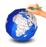бумажный конструктор 3D пазл глобус раскраска Страны мира ТамТут (Развивающие игры)