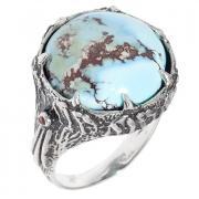 Серебряное кольцо с бирюзой 10 1 18 арт. РљР'14,44