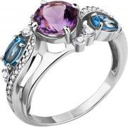 Серебряные кольца Aquamarine 6906930A-S-a