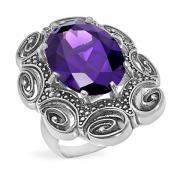Серебряное кольцо Yaffo с фианитом SAR1450