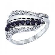 Серебряное кольцо с фианитами 5 2 14 арт. 94011965