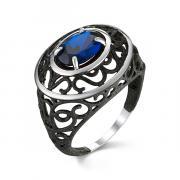 Серебряное кольцо с сапфиром 9 1 20 арт. 51823SSB