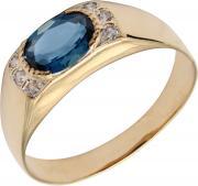 Золотые кольца Маршал KM-136-london-topaz