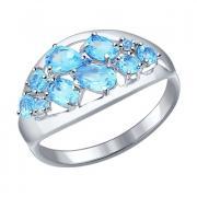Серебряное кольцо с топазом 3 4 16 арт. 92011097