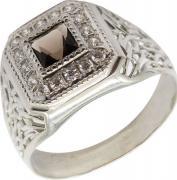Серебряные кольца Маршал KM-115/5-rauh-topaz