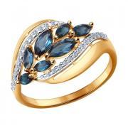Кольцо из золота с топазами и фианитами арт. 714426