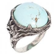 Серебряное кольцо с бирюзой 10 1 18 арт. РљР'14,74