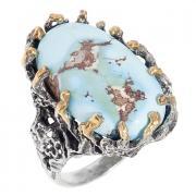 Серебряное кольцо с бирюзой 10 1 17 арт. РљР'13,47