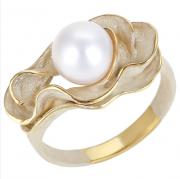 Кольцо из золоченого серебра с жемчугом арт. 51241Y1H