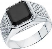 Серебряные кольца Маршал KM-01/1-fianit