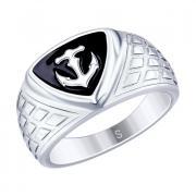 Серебряная печатка Якорь 2 3 6 арт. 94012672