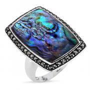 Серебряное кольцо ALEXANDRE VASSILIEV с перламутром, горным хрусталем и марказитами Swarovski TJR441