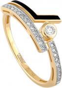 Кольцо женское Kabarovsky 11-21050-1002 из желтого золота, р. 17.5
