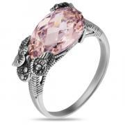 Серебряное кольцо с марказитами Swarowski и фианитами TJR260
