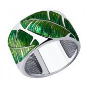 Серебряное кольцо с эмалью 5 4 12 арт. 94012855
