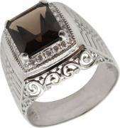 Серебряные кольца Маршал KM-140/2-rauh-topaz
